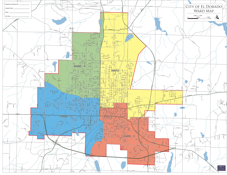 El Dorado Arkansas Ward Map